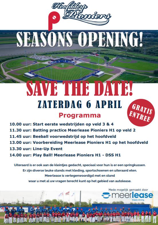 Hoofddorp Pioneers Seasons Opening